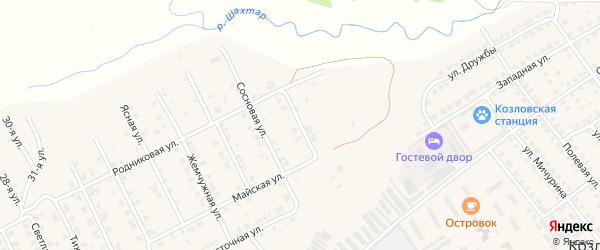 Улица Строителей на карте Козловки с номерами домов