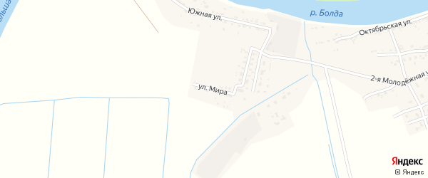 Улица Мира на карте села Семибугров с номерами домов