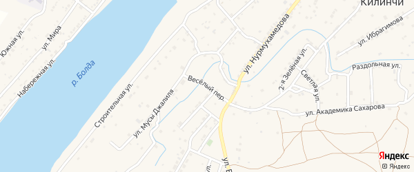 Веселый переулок на карте села Килинчи с номерами домов