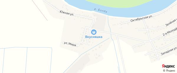 Строительная улица на карте села Семибугров с номерами домов