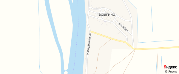 Набережная улица на карте села Парыгино с номерами домов