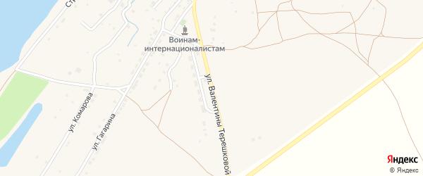 Улица В.Терешковой на карте села Килинчи с номерами домов