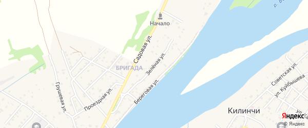 Зеленая улица на карте поселка Начала с номерами домов