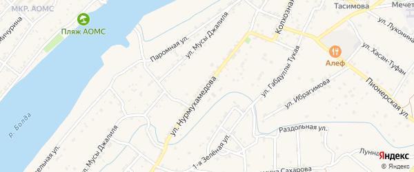 Улица Нурмухамедова на карте села Килинчи с номерами домов