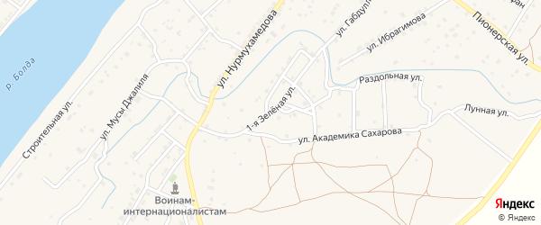 Зеленая 1-я улица на карте села Килинчи с номерами домов