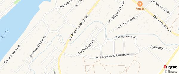 Зеленая улица на карте села Килинчи с номерами домов