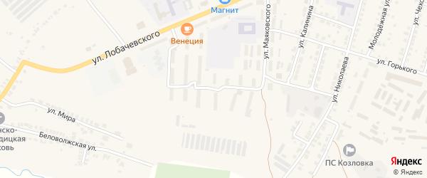 Улица Герцена на карте Козловки с номерами домов