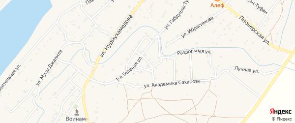 Светлая улица на карте села Килинчи с номерами домов