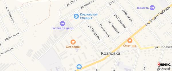 Улица Чернышевского на карте Козловки с номерами домов