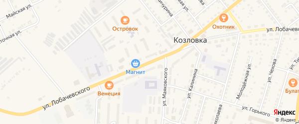 Улица Лобачевского на карте Козловки с номерами домов