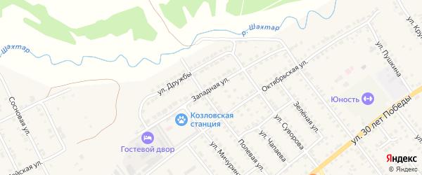 Западная улица на карте Козловки с номерами домов