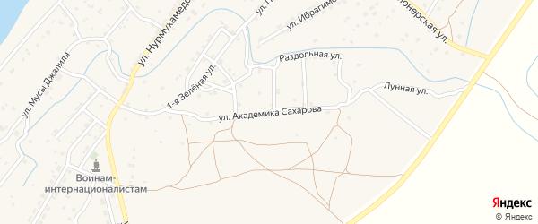 Улица Академика Сахарова на карте села Килинчи с номерами домов