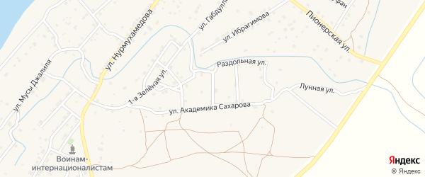 Ягодный переулок на карте села Килинчи с номерами домов