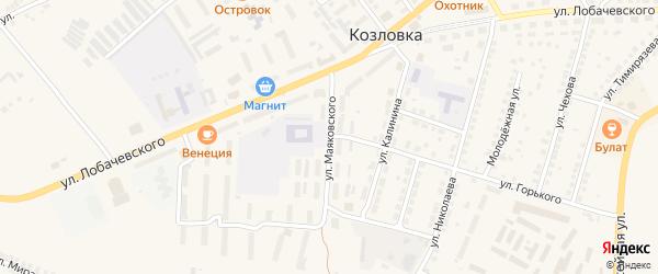 Улица Маяковского на карте Козловки с номерами домов