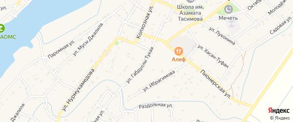 Спортивная улица на карте села Килинчи с номерами домов