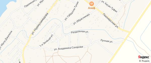 Раздольная улица на карте села Килинчи с номерами домов