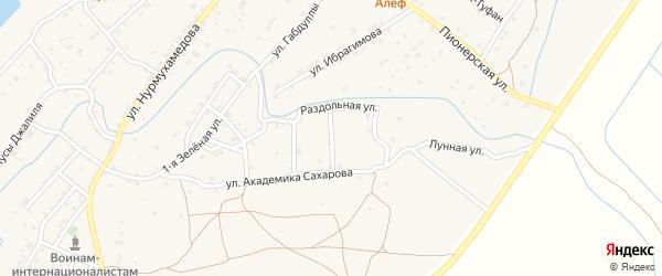 Травинский переулок на карте села Килинчи с номерами домов