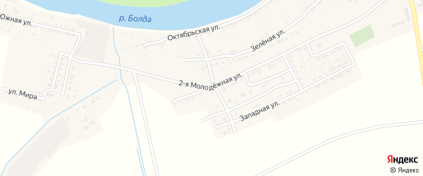 2-я Молодежная улица на карте села Семибугров с номерами домов