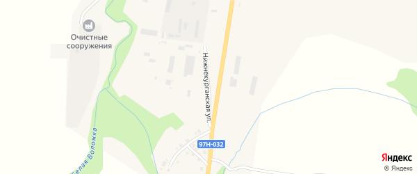 Нижнекурганская улица на карте Козловки с номерами домов