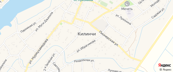 Огородный переулок на карте села Килинчи с номерами домов