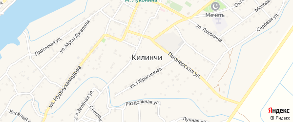 Морская улица на карте села Килинчи с номерами домов