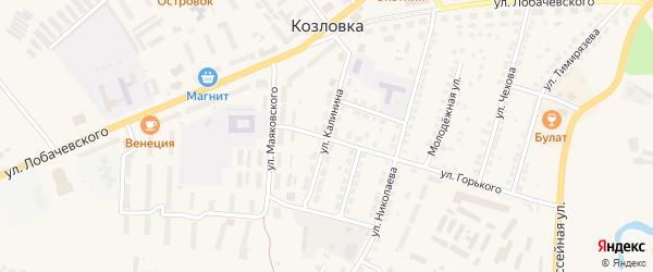 Улица Калинина на карте Козловки с номерами домов