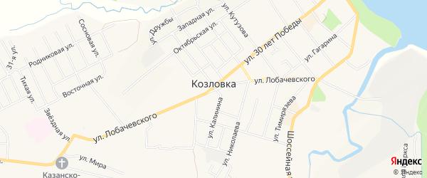 СТ Восход-2 на карте Козловки с номерами домов