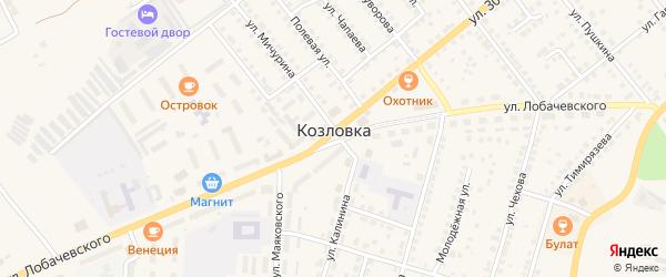 Улица Мелиораторов на карте Козловки с номерами домов