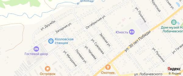 Улица Суворова на карте Козловки с номерами домов