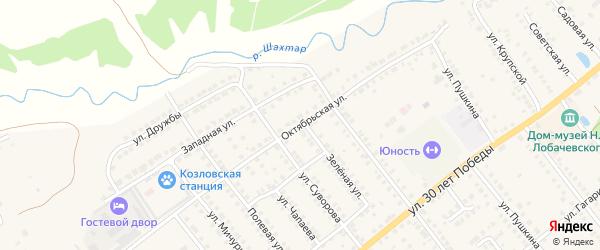Октябрьская улица на карте Козловки с номерами домов