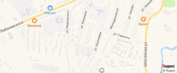 Пионерская улица на карте Козловки с номерами домов