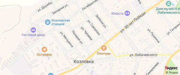 Улица Чапаева на карте Козловки с номерами домов