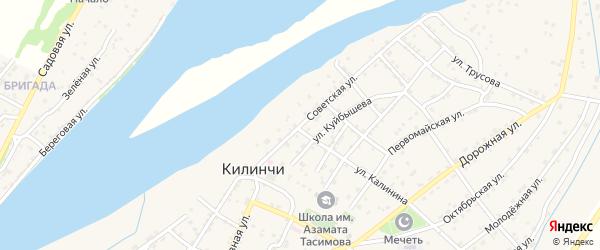 Советская улица на карте села Килинчи с номерами домов