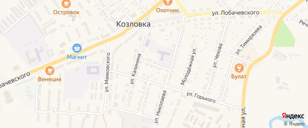 Улица Щорса на карте Козловки с номерами домов