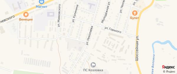 Улица Николаева на карте Козловки с номерами домов