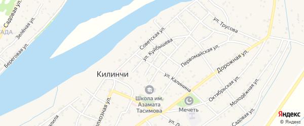 Улица Некрасова на карте села Килинчи с номерами домов