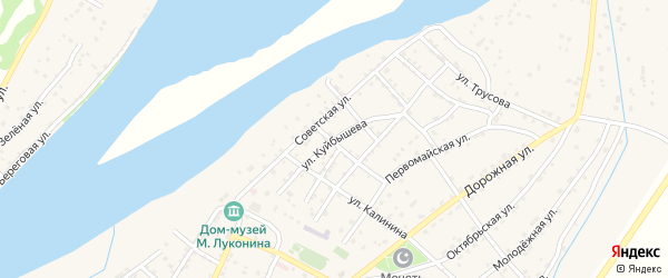 Улица Куйбышева на карте села Килинчи с номерами домов