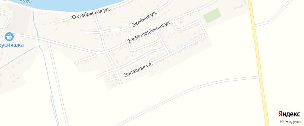 Западная улица на карте села Семибугров с номерами домов