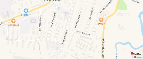 Улица М.Горького на карте Козловки с номерами домов