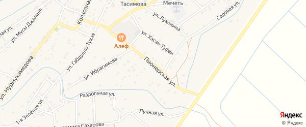 Пионерская улица на карте села Килинчи с номерами домов