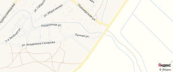 Лунная улица на карте села Килинчи с номерами домов