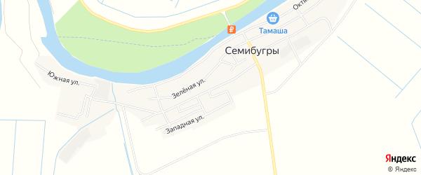 Карта села Семибугров в Астраханской области с улицами и номерами домов