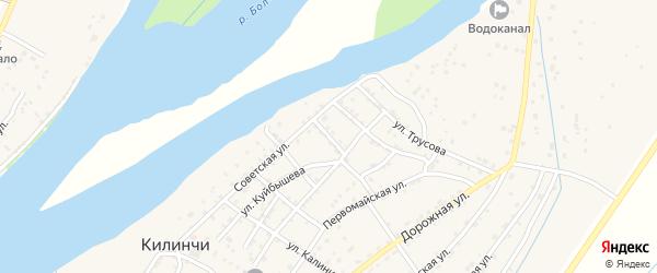 Улица Крупской на карте села Килинчи с номерами домов