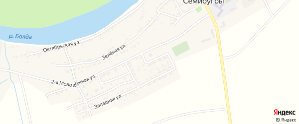 1-я Молодежная улица на карте села Семибугров с номерами домов