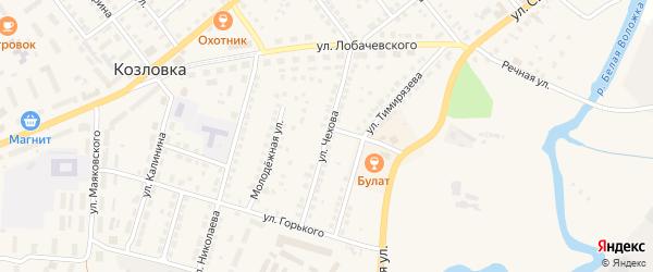 Улица Чехова на карте Козловки с номерами домов