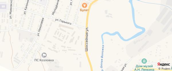 Шоссейная улица на карте Козловки с номерами домов