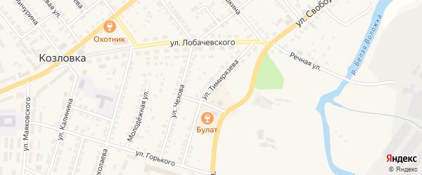 Улица Тимирязева на карте Козловки с номерами домов