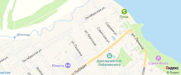 Улица Крупской на карте Козловки с номерами домов