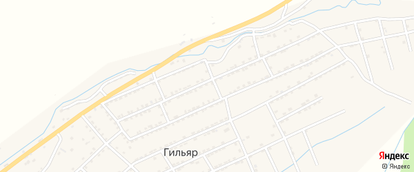 Улица В.Эмирова на карте села Гильяра с номерами домов