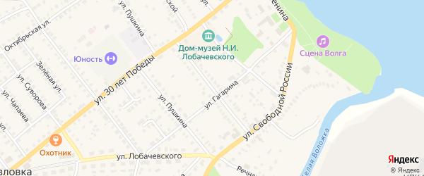 Улица Тухланова на карте Козловки с номерами домов